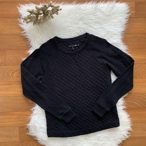 Rag & Bone black quilted Sweatshirt
